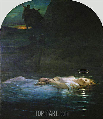 The Young Martyr, 1855 | Paul Delaroche | Gemälde Reproduktion