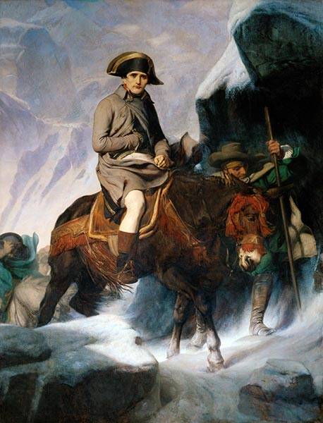 Bonaparte Crossing the Alps, 1848 | Paul Delaroche | Painting Reproduction
