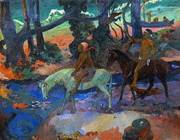 The Ford (Flight), 1901 von Gauguin | Gemälde-Reproduktion