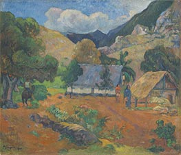 Landscape with Three Figures | Gauguin | Gemälde Reproduktion