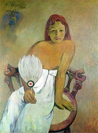 Girl with a Fan, 1902 by Gauguin | Painting Reproduction