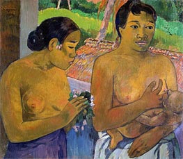 The Offering, 1902 by Gauguin | Painting Reproduction