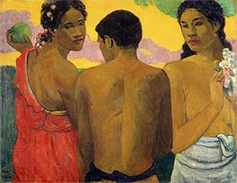 Three Tahitians, 1898 by Gauguin | Painting Reproduction