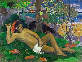 Te Arii Vahine (The King's Wife) | Gauguin | Painting Reproduction