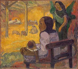 Be Be (The Nativity), 1896 by Gauguin | Painting Reproduction