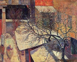Paris in the Snow, 1894 by Gauguin | Painting Reproduction