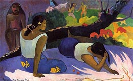 Arearea no vareua ino (Pleasures of the Evil Spirit), 1894 by Gauguin | Painting Reproduction