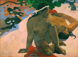 Aha oe Feii (What Are You Jealous), 1892 von Gauguin | Gemälde-Reproduktion