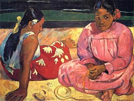 Two Woman on the Beach, 1891 von Gauguin | Gemälde-Reproduktion