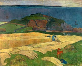 Seaside Harvest, Le Pouldu, 1890 von Gauguin | Gemälde-Reproduktion
