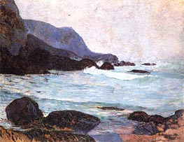 The Coast of Bellangenay, c.1890 von Gauguin | Gemälde-Reproduktion