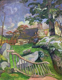 The Gate (The Swineherd), 1889 von Gauguin | Gemälde-Reproduktion
