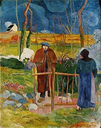Bonjour Monsieur Gauguin, 1889 by Gauguin | Painting Reproduction