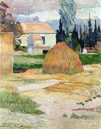 Haystack, near Arles, 1888 by Gauguin | Painting Reproduction