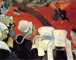 The Vision after the Sermon, 1888 by Gauguin | Painting Reproduction