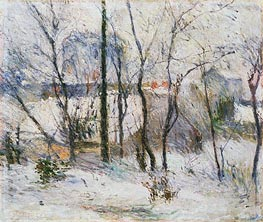 Garden under Snow, 1879 by Gauguin | Painting Reproduction