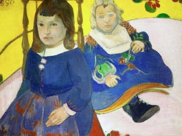 Two Children, 1889 by Gauguin | Painting Reproduction