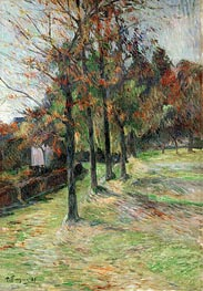Road in Rouen, 1885 von Gauguin | Gemälde-Reproduktion