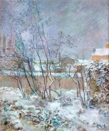 Snow in the rue Carcel | Gauguin | Gemälde Reproduktion