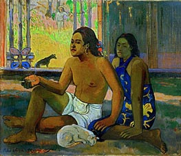 Eiahe Ohipa - Do not Work | Gauguin | Painting Reproduction