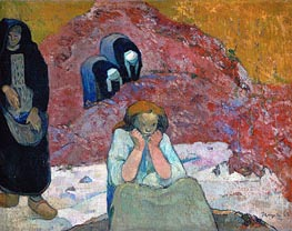 Harvesting of Grapes at Arles (Human Misery) | Gauguin | Painting Reproduction