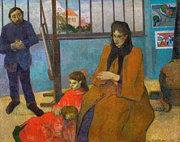 The Studio of Painter Emile Schuffenecker | Gauguin | Gemälde Reproduktion