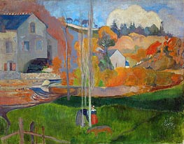 The Mill David, Landscape in Brittany | Gauguin | Gemälde Reproduktion