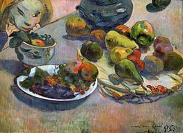 Still Life with Fruits, 1888 by Gauguin | Painting Reproduction