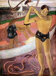 The Man with an Axe | Gauguin | Gemälde Reproduktion
