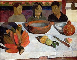 The Meal, Bananas | Gauguin | Gemälde Reproduktion