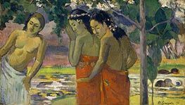 Three Tahitian Women, 1896 by Gauguin | Painting Reproduction