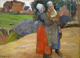 Breton Peasant Women, 1894 by Gauguin | Painting Reproduction