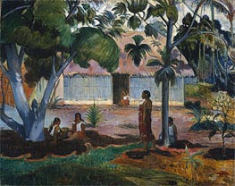 The Large Tree (Te raau rahi) | Gauguin | Gemälde Reproduktion