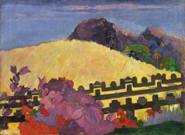 The Sacred Mountain (Parahi Te Marae) | Gauguin | Gemälde Reproduktion
