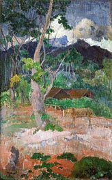 Landscape with a Horse | Gauguin | Painting Reproduction