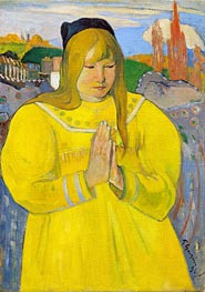 Breton Girl in Prayer | Gauguin | Painting Reproduction