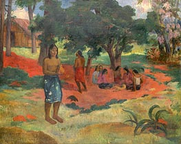 Parau Parau (Whispered Words), 1892 von Gauguin | Gemälde-Reproduktion