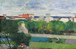 The Market Gardens of Vaugirard, 1879 von Gauguin | Gemälde-Reproduktion