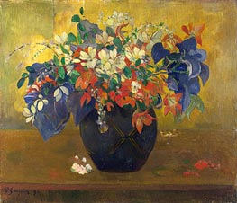 A Vase of Flowers | Gauguin | Gemälde Reproduktion