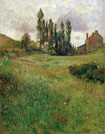 Dogs Running in a Meadow | Gauguin | Gemälde Reproduktion
