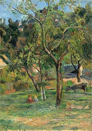 An Orchard under the Church of Bihorel, 1884 von Gauguin | Gemälde-Reproduktion