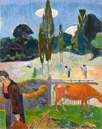 The Red Cow, 1889 von Gauguin | Gemälde-Reproduktion