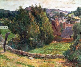 Landscape on the Pont-Aven, 1886 by Gauguin | Painting Reproduction