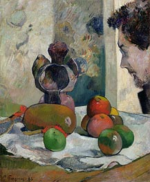 Still Life with Profile of Laval | Gauguin | Gemälde Reproduktion