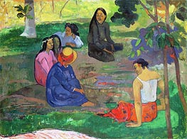 Les Parau Parau (The Gossipers), 1891 by Gauguin | Painting Reproduction