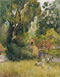 Huts under the Trees | Gauguin | Painting Reproduction