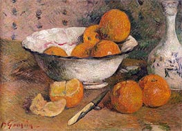 Still Life with Oranges, 1881 von Gauguin | Gemälde-Reproduktion