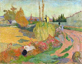 Landscape at Arles | Gauguin | Gemälde Reproduktion