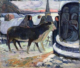 Christmas Night (The Blessing of the Oxen) | Gauguin | Gemälde Reproduktion