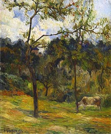 Normandy Landscape: Cow in a Meadow, 1884 von Gauguin | Gemälde-Reproduktion